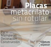 Placa de metacrilato 10 mm